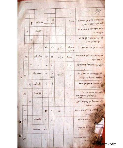 Pawet: Documents on Jewish Genealogy in the Collections of