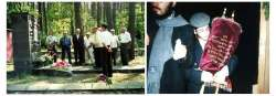 (49KB) By memorial in Stonevich forest near Ivje. Holiday of Cimhar-Torah. Rabiis returned with Torah.